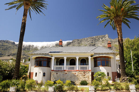 Exterior view of Cape Riviera guest house in Cape Town.