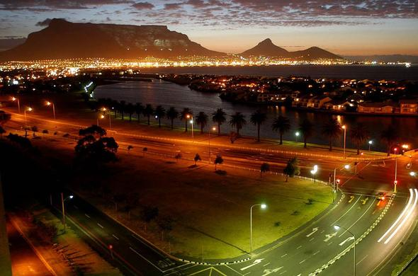 Vibrant nightlife in Cape Town.