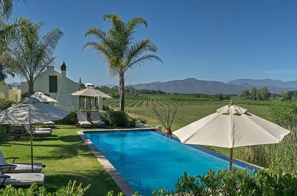 Cape Winelands guest house.