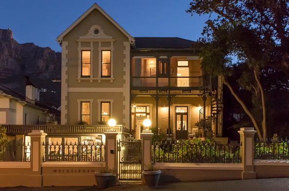 Exterior view of Welgelegen Boutique Hotel in Cape Town.